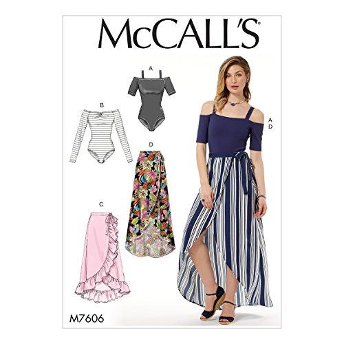 McCall 's Patterns 7606Y Schnittmuster Bodys und Röcke, Mehrfarbig, XS/mittel -