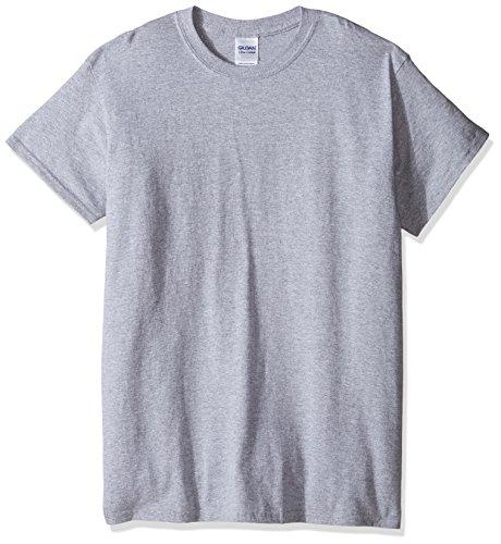 gildan-t-shirt-a-manches-courtes-homme-2xl-gris-sport