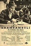 Krambambuli - Rudolf Prack, Victoria von Ballasko ... 30 er / 40 er Jahre - Film - Poster - 20 x 30 cm (Reproduktion eines alten Filmplakats)
