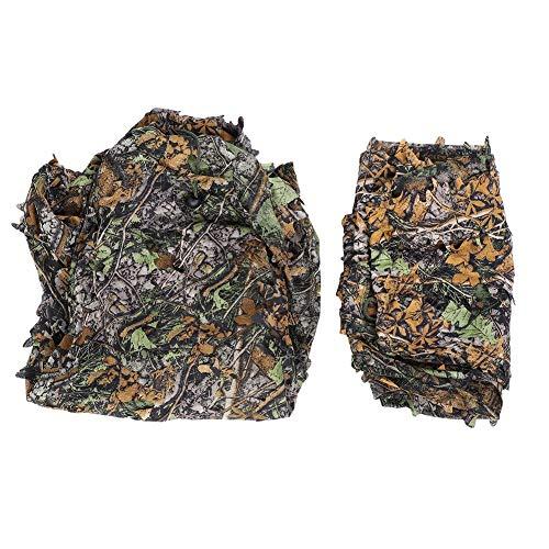 AYNEFY Tarnanzug,3D Ghillie Suit Camouflage Suit 3D Jungle Ghillie Suit Tarnkleidung Camouflage Kleidung Geeignet für Jungle Jagd Paintball Airsoft Wildlife Fotografie Halloween(Jacke,Hose)