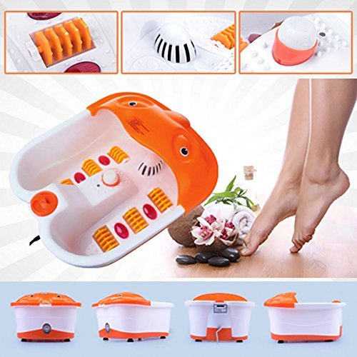 DEALCROX Foot Spa Bath and Roller Massager for Feet Pain Relieve and Care