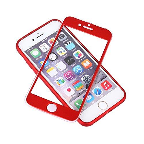 Phone case & Hülle Für iPhone 6 Plus / 6s Plus, 360 Grad Shockproof Öl Auslauf Silikon zurück Fall + PC Abdeckung Kombination Schutzhülle ( Color : Gold ) Red