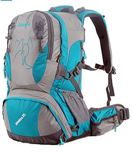 Cinny männliche und weibliche Liebhaber zu Fuß auf Fuß wasserdichte outdoor Bergsteigen Tasche Freizeit Sport-35L lightblue