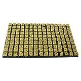1x Grodan Tray 150 Anzuchtmedien aus Steinwolle je block 2,5cm x 2,5cm in Kunststoffschale 53cm x 32 cm inkl. Greenception Wuchs Dünger 100g -