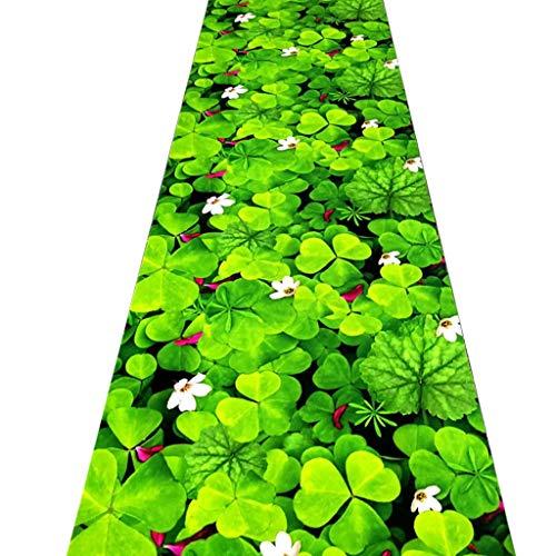 SESO UK- Pastorale Teppich Läufer für Flurtreppen, kommerzielle Haushalt Hall Decor Gras Teppich Läufer (Size : 60×400cm) -