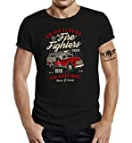 LOBO NEGRO Original Design T-Shirt: Firefighter Feuerwehr-XXXL