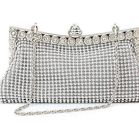 Da Wu Jia señoras bolso mujer de lujo de alta calidad formal Blingbling / Evento/fiesta / Bolsa de noche de bodas de plata .