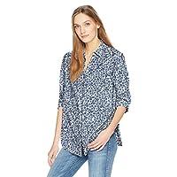 NYDJ Women's Classic Lawn Shirt, Bluestars Peacoat, XL