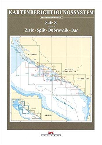 Sportbootkarten-Berichtigung Satz 8 (2019): Adria 2: Zirje- Split - Dubrovnik - Bar