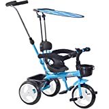 Boppi 4-in-1 Blue Tricycle for kids
