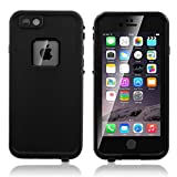 iPhone 6/6S Plus Custodia impermeabile, ERUN Custodia impermeabile iPhone 6/6s Plus, 5.5ft subacquea Shock neve contro lo sporco Copri urti Resistente all'acqua per iPhone 6/6S Plus,Nero