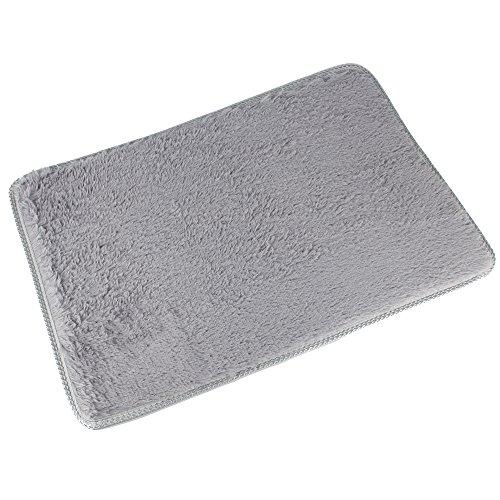 DODOING Super Dicken Shag Wohnzimmer Teppich Schlafzimmer Bereich Teppiche Boden Teppich Wohndekor, Grau, Größe:120x160 cm -