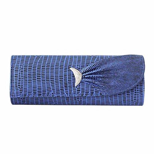 Qualität PU-Leder Damen Tasche Bankett Tasche Abendtasche Kleid Tasche Skyblue