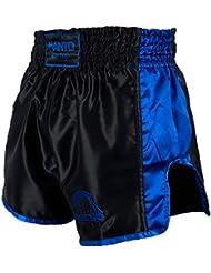 Manto Pantalones Cortos Pantalones Cortos Vibe fights Muay Thai Kickboxing Muay Thai Boxeo tailandés, color azul, tamaño L