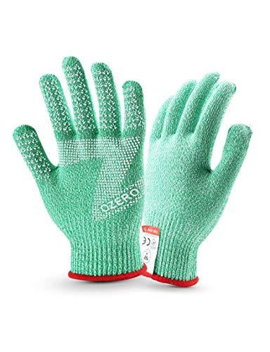 WYSTAO Food Grade Handschuhe Anti-Cut Anti-Rutsch atmungsaktiv Küche Schlachtung Out Arbeitsschutz volle Finger Frühling und Sommer Handschuhe (Farbe : XL Blue Side)