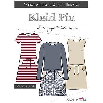 Schnittmuster Fadenkäfer Kleid Pia - Kinder Gr.92-164 ...