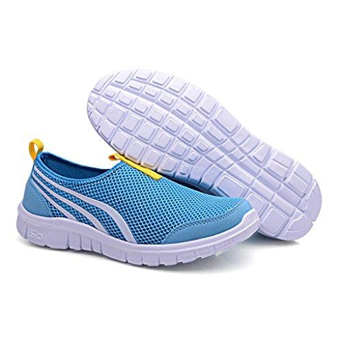 Eagsouni® Unisex-Erwachsene Sommer Breathable Mesh Schuhe Laufschuhe Strandschuhe athletische Turnschuh #2Blau