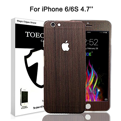toeoe-adhesivo-de-vinilo-protector-para-iphone-diseo-efecto-madera-teakwood-for-iphone-6s-6