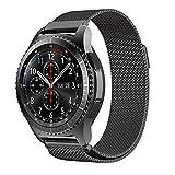 SUNDAREE Gear S3 Frontier/Galaxy Watch 46MM Armband,22MM Milanese Metall Eelstahl Armband Ersatz Strap Uhrenarmband für Samsung Galaxy Watch 46MM/Samsung Gear S3 Frontier/Classic(S3 Schwarz Milanese)