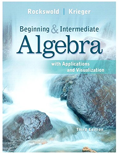 Download PDF Beginning And Intermediate Algebra With