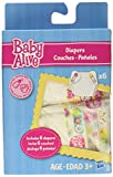Baby Alive Toy Doll - Diapers Nappy Pack- Includes 6 Drink and Wet Nappies - Super Snacks