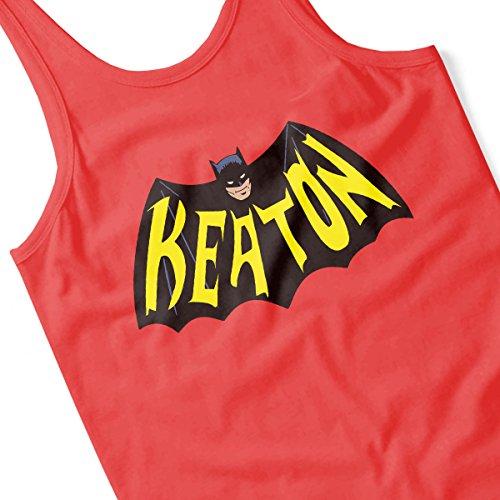 Batman 66 KEATON DC Dark Knight Justice League Men's Vest Red
