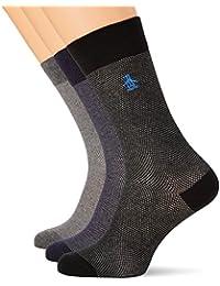 3-pack Textura Calcetines Original Penguin Hombres Combinación Azul/gris
