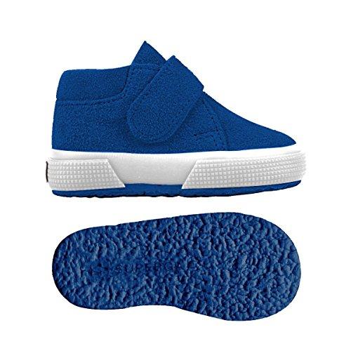 Superga S001NW0 2174-BSUJ, Chaussures montantes mixte enfant Blue Royal Marine