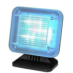 tiiwee LED TV Simulator mit 12 LED's und 3 wählbaren Programmen - Lichtsimulation zum Einsatz als Einbruchschutz -Fernsehsimulator - Fernseh-Atrappe - Fake TV