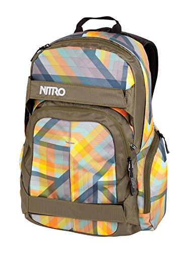Nitro Snowboards Zaino da Snowboard, Rucksack Drifter, nero - Bleach, 1121877470 Arancio GEO