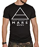 30 Seconds to Mars Black Mens Rock Band Round Neck T-Shirt New