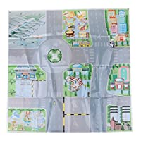 Homyl Puzzle Road Sign Drawing Parking Lot City Simulated Car Scene Toys 60x60cm