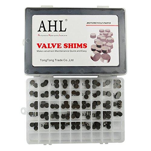 AHL 9.48mm Ventil Shim Set 4x44pcs Ventilspiel Kit für Kawasaki VN800B Vulcan 800 Classic 1996-2005