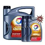 Total Quartz 90005W-40Huile moteur synthétique tot-148650-7-1x 5l +...