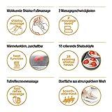 Beurer FM 60 Fußmassagegerät, 18 Massageköpfe, Wärmefunktion, 2 Geschwindigkeiten, durchblutungsfördernde Shiatsu Massage Vergleich