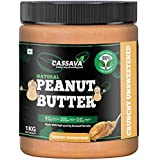 Cassava Peanut Butter All Natural Crunchy 1kg | Unsweetened 28g Protein | Zero Cholesterol | Gluten Free)