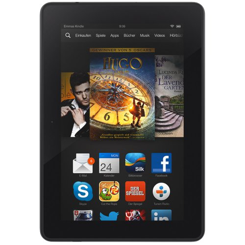 Kindle Fire HDX 7, 17 cm (7 Zoll), HDX-Display, WLAN, 32 GB - mit Spezialangeboten (Vorgängermodell - 3. Generation) (Kindle Fire Hdx 7 32gb)