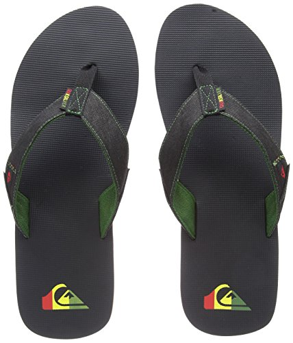 Quiksilver Molokai Abyss, Zapatos de Playa y Piscina para Hombre, Verde Green/Black/Green Xgkg, 45...