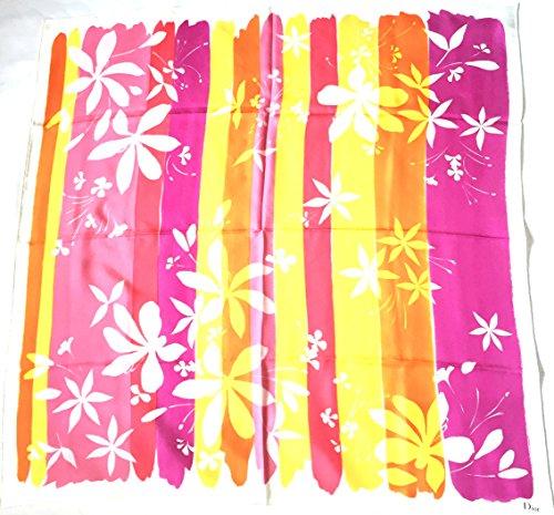 dior-seidentuch-bunte-blumenmotive-in-pink-und-gelb-90-x-90cm-scarve