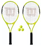 2 x Wilson Energy XL Tennisracket + 3 tennisballen