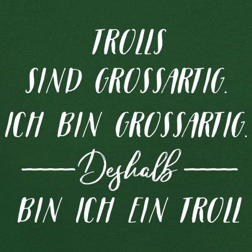 Ich Bin Grossartig - Trolls - Herren T-Shirt - 13 Farben Flaschengrün