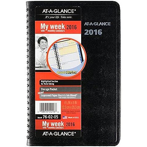 A che avvisa quando la preda settimanali o mensili-Agenda appuntamenti, 2016, appunti veloci, 12 mesi, formato pagina (12,40 20,32 cm x 8 x (4,88