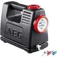 AEG Automotive AEG 97180 Akku Luft- und Energiestation LA 10, mobile Stromquelle mit 12 und 230 Volt Adapter, maximal 10 bar