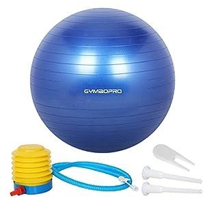 GYMBOPRO Gymnastikball, Yoga Ball Fitnessball mit Pumpa für Yoga, Pilates,...