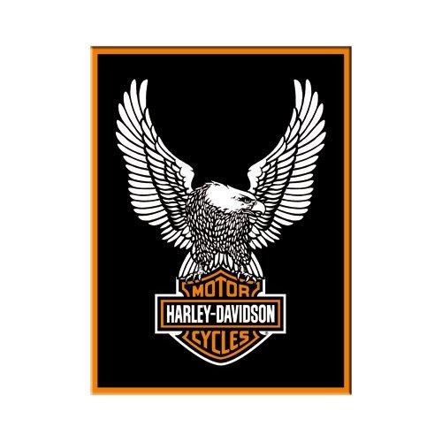 Nostalgic-Art 14228 Harley-Davidson - Eagle Logo, Magnet 8x6 cm