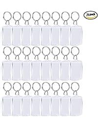 Sumind Llavero de Insertación de Foto Llavero de Acrílico en Blanco Llavero de Marco de Foto Transparente Tamaños de Foto de Pasaporte, 4 cm por 5,5 cm