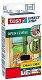 Tesa® Insect Stop Mosquitera para ventana para abrir y cerrar, transparente, 1,3m x 1,5m, 130 x 150cm, pink/minze, 1