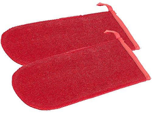 infactory Fusselhandschuh: 2er-Set Doppelseitige Anti-Fussel-Handschuhe für Kleidung, Sofa & Auto (Tierhaar-Entferner)