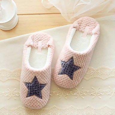 zhENfu donna pantofole & amp; flip-flops primavera autunno casual in velluto tacco piatto grigio arrossendo rosa Blushing Pink