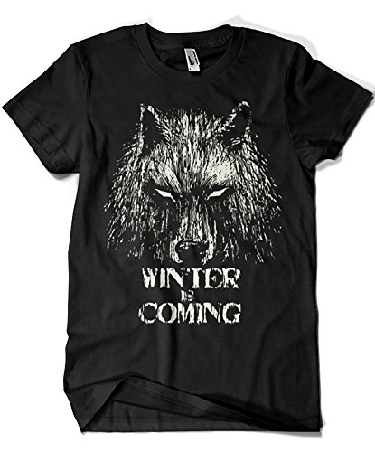 344-Camiseta Winter is Coming (Fuacka) (Negro, XXL)